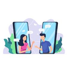 online communication concept vector image