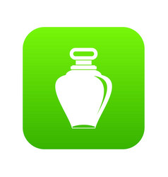 Parfume bottle icon digital green vector