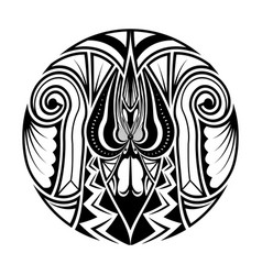 Polynesian ethnic circle abstract tattoo vector