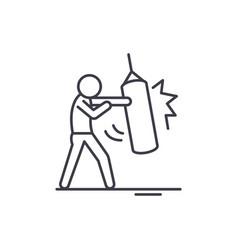 punchbag line icon concept punchbag linear vector image