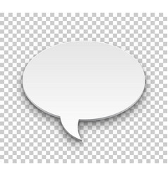quote balloon volume oval transparent background vector image