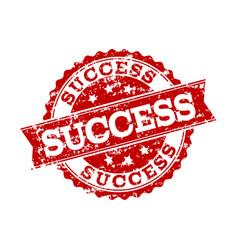 Red grunge success stamp seal watermark vector