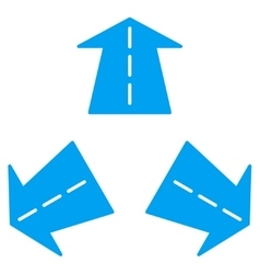 Road Directions Icon vector