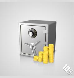 Safe pile coins vector