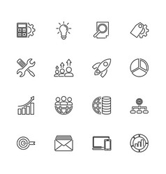 Seo - flat icons vector