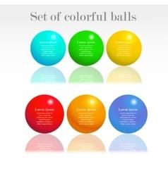 set colorful balls vector image