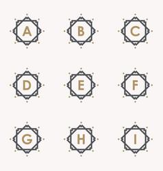 set letter a vector image