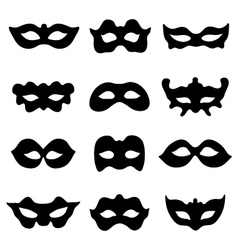silhouettes of masks vector image