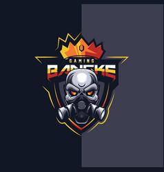 Skulls sport logo template vector