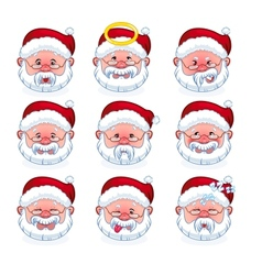 smilies santa claus vector image