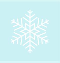 snowflake - icon white snowflake in blue vector image