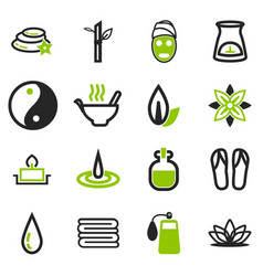 Spa icons set vector