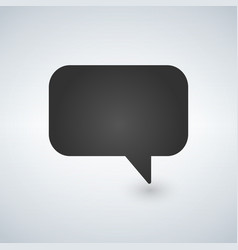 Speech bubble icon isolated flat design vector