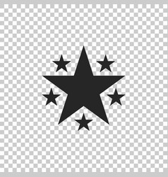 star icon isolated on transparent background vector image