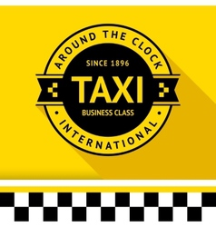 Taxi badge 13 vector