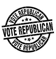 Vote republican round grunge black stamp vector