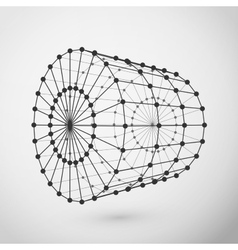 Wireframe cylinder polygonal element vector image