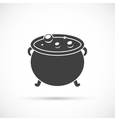 witch cauldron icon vector image