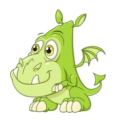 Cute dragon baby vector image vector image