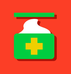 Flat icon design collection medical napkins in vector