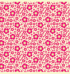 flower geometric seamless pattern fashion graphic vector image vector image