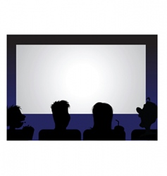 movie audience vector image vector image
