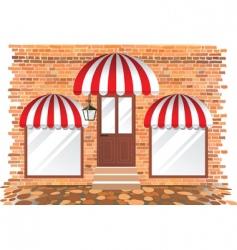 retail building vector image vector image