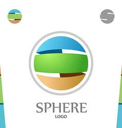 S letter logo template Abstract sphere Globe with vector image vector image