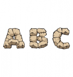 stone alphabet abc vector image vector image