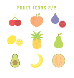 fruit icons two vector image