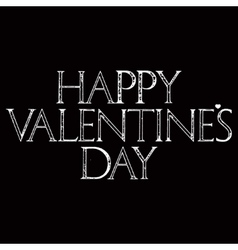 Happy Valentines Day lettering in dark version vector image vector image