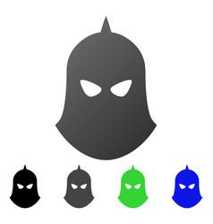 knight helmet flat gradient icon vector image vector image