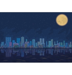 Night city landscape vector image vector image