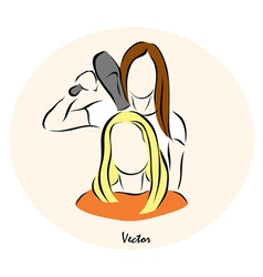 showing a woman vector image
