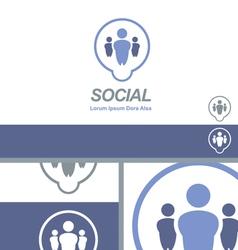 Social media dating network logo concept vector