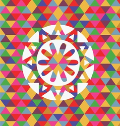 unusual snowflake vector image vector image