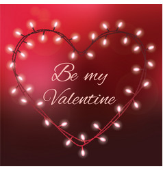 Valentines day background with bright lights and vector