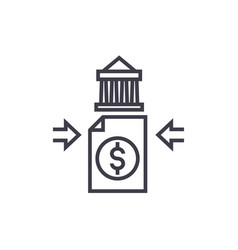bank transfer concept thin line icon vector image