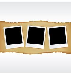 Blank photos vector