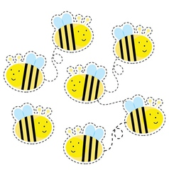 Buzzy bees vector