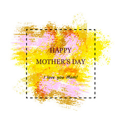 greeting card template for mother s day vector image vector image