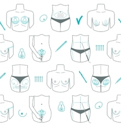 Seamless pattern of body plastic surgery Flat vector image vector image