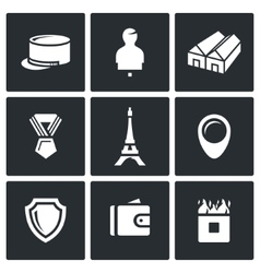 Set of French Legion Icons Kepi Target vector image vector image