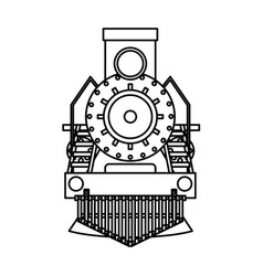 steam train silhouette isolated icon vector image