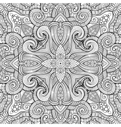 Abstract decorative ethnic hand drawn vector image
