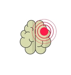 Abstract human brain injury stroke cartoon vector