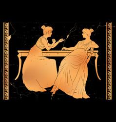 ancient greek drawing vector image