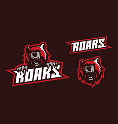 angry bear mascot logo design vector image