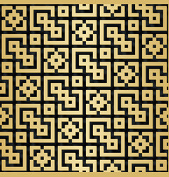 Arabic seamless pattern with 3d effect vector