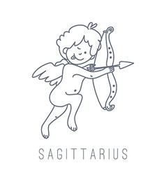 Archer sagittarius vector